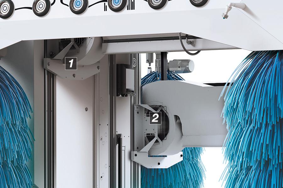 portalna avtopralnica m'nex28 dvojni optični sušilnik