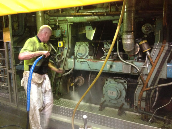 čiščenje stroja